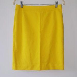 J.Crew Pencil Skirt Wool Blend Yellow Work Career